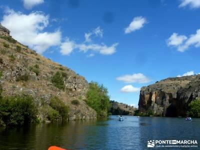 Piragüismo Hoces del Río Duratón;castillo de coca cerezos en flor crampones